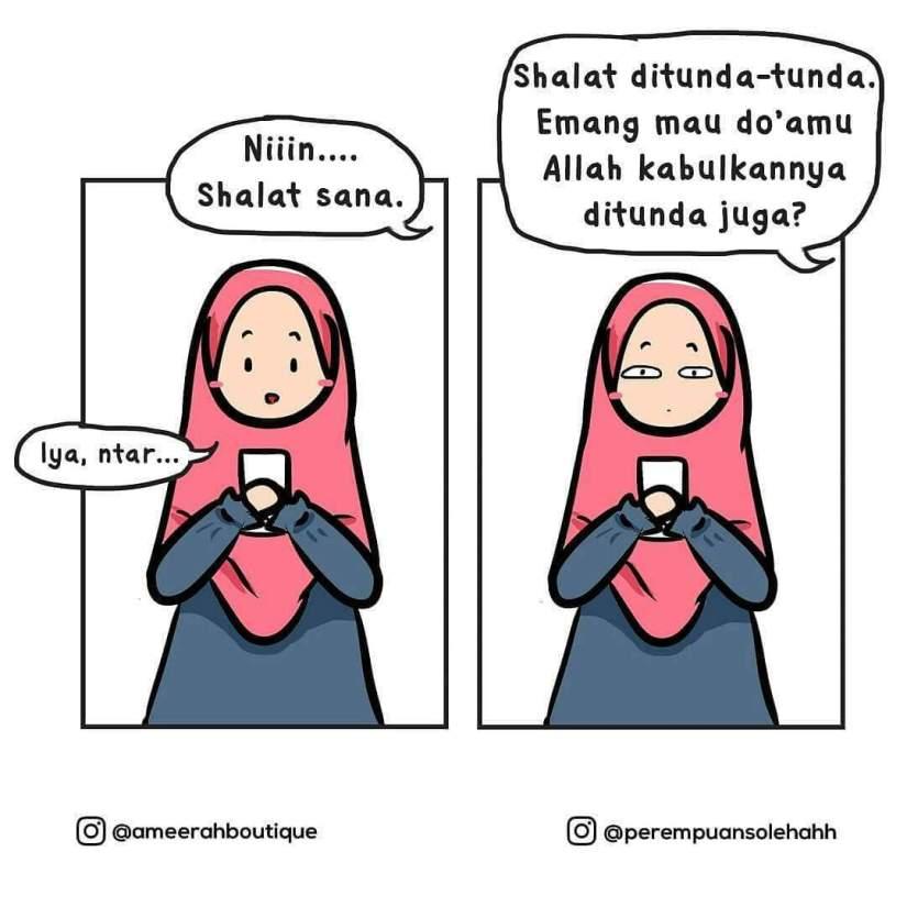 80 Gambar Animasi Lucu Muslimah Paling Hist