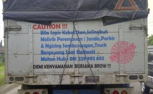 kata kata lucu bergambar Tulisan bak truk gokil