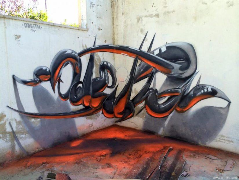 Contoh gambar grafiti 3d