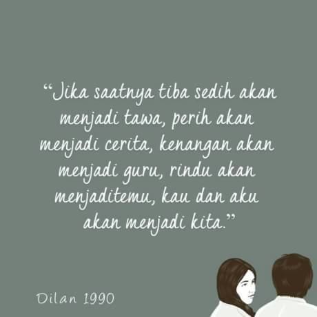 Kata Kata Dilan Quotes Dilan Novel Dilan 1990 Film Dilan 1990