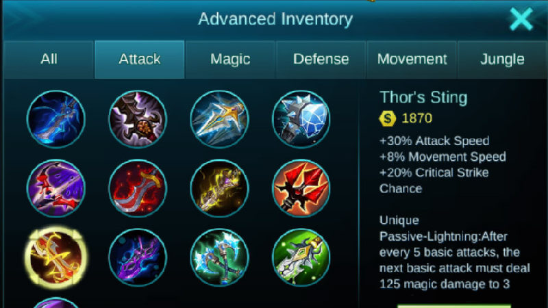 Tips Main Game Mobile Legends - gear set