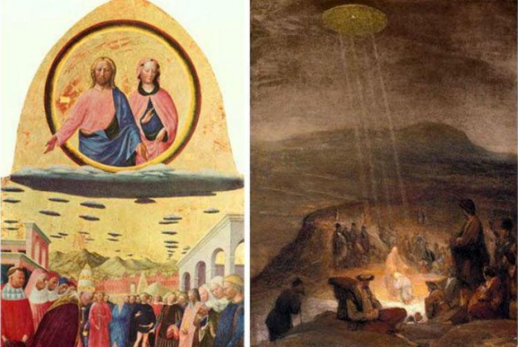 キリスト UFO 絵画