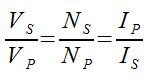 ideal-transformer-formula