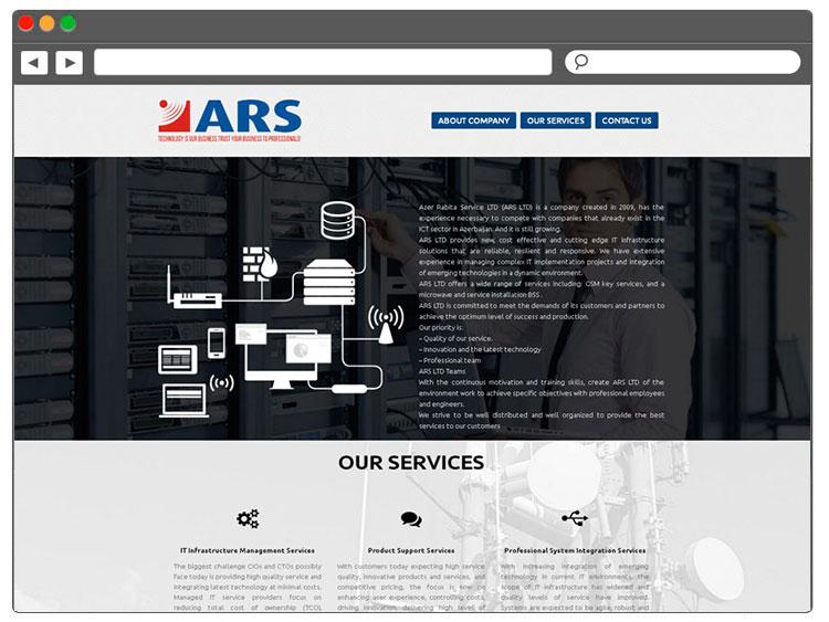 Azer Rabita Servis şirkəti üçün Landing Page / Landing Page для компании Azer Rabita Service
