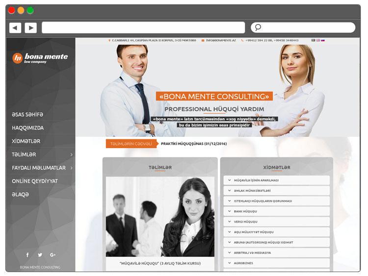 Huquq Meslehetxanasi üçün Korporativ Veb Səhifə / Интернет ресурс для юридической консультации в Баку