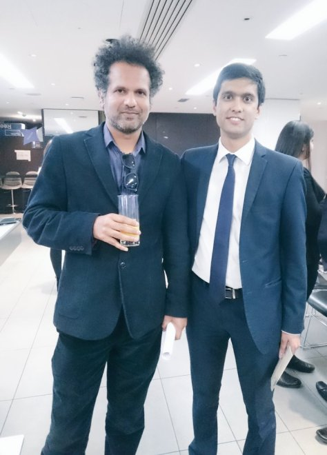 Author and commentator Sarfraz Manzoor with Ibrahim Rahman