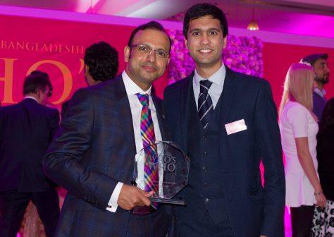 Award-winning accountant Mahbub Murshed with Ibrahim