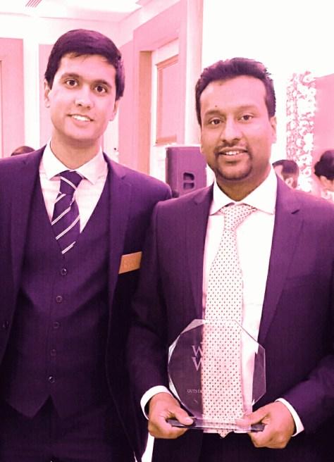 Ibrahim with award-winner Kamru Ali