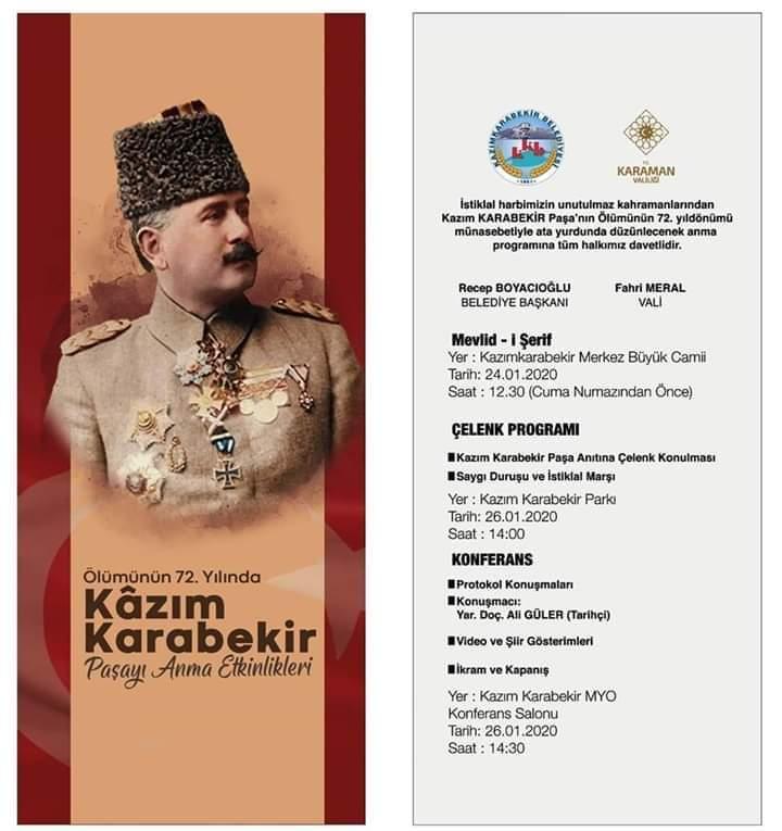 Kazım KARABEKİR Paşa Anma Programı