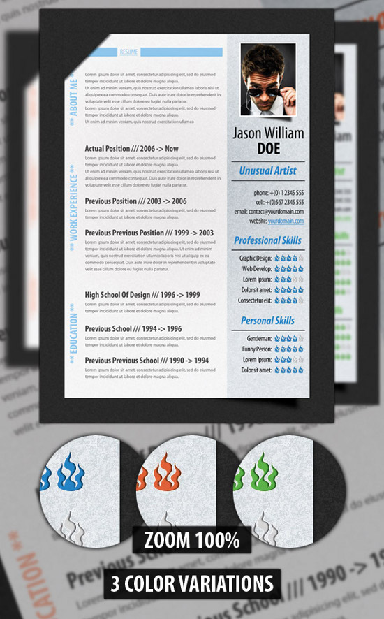 Digital Resume digital resume Digital Resume Design Creative Samples For Various Job Positions And Industries
