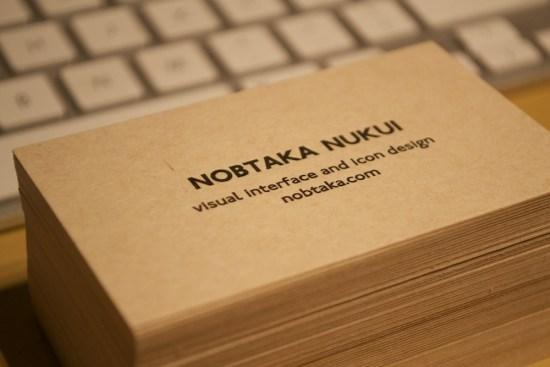Nob Nukui's Business Card