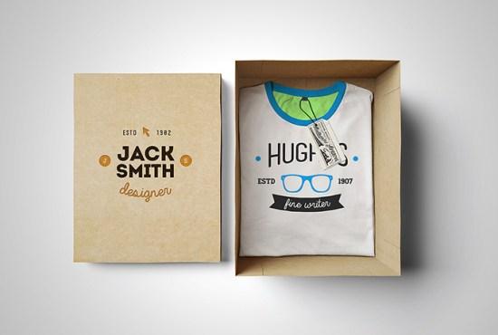 Maqueta de la camiseta. Box Edition por Alex Warden