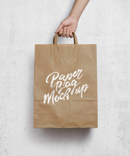 Maqueta de bolsa de papel marrón de GraphicBurger