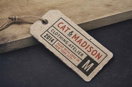 Vintage Label Tag MockUp por GraphicBurger