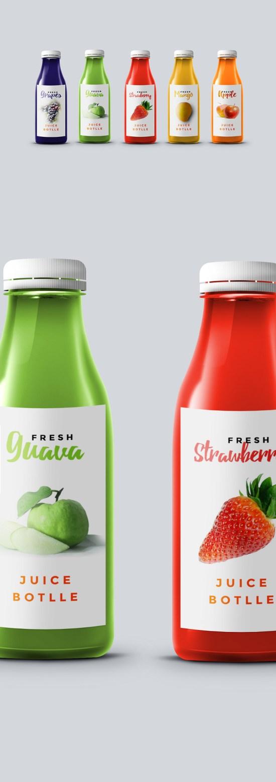 Juice Bottle Mockup por GraphicsFuel