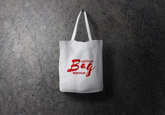 Maqueta de bolsa de algodón PSD por GraphicsFuel