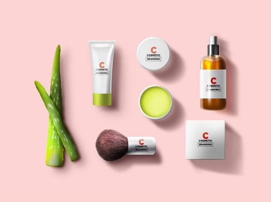 Maqueta de marca de cosméticos por GraphicsFuel