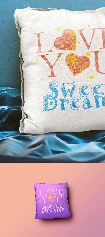 Pillow Mockup PSD Templates por GraphicsFuel