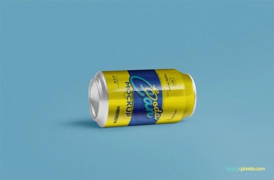 COOL SOFT DRINK PUEDE MOCKUP PSD por ZippyPixels