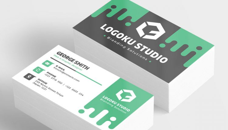 Slime Business Card Template (5 Colors, PSD)