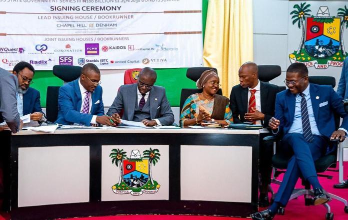 Image result for Lagos signs N100bn infrastructure debt bond
