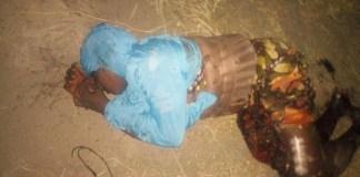 Nuetralized female suicide bomber