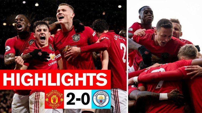 Image result for Martial & McTominay fire the Reds to derby win | Manchester United 2-0 Man City | Premier League