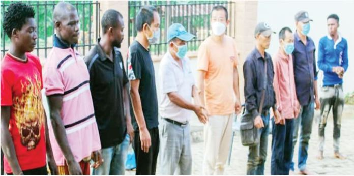 Task Force arrests 17 Chinese, 10 local illegal mining in Osun