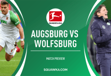 Wolfsburg extends unbeaten run after stoppage-time goal against Augsburg