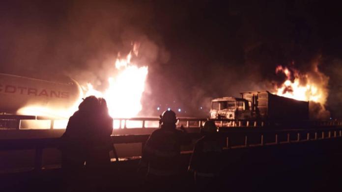 Video: Three petrol tankers explode on Lagos/Ibadan Expressway