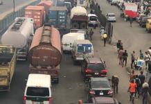 Just In: Tanker explosion averted as gridlock takes over Lagos-Ibadan expressway