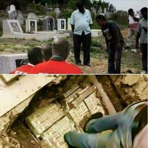 $150m Cash belonging to Magu discovered inside Ikoyi Cemetery in Lagos(Photos)