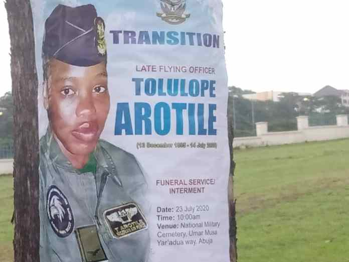 Nigeria's first female Combat Pilot Tolulope Arotile goes home today