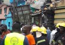 Again! three-storey building collapse in Ebutemeta, Lagos