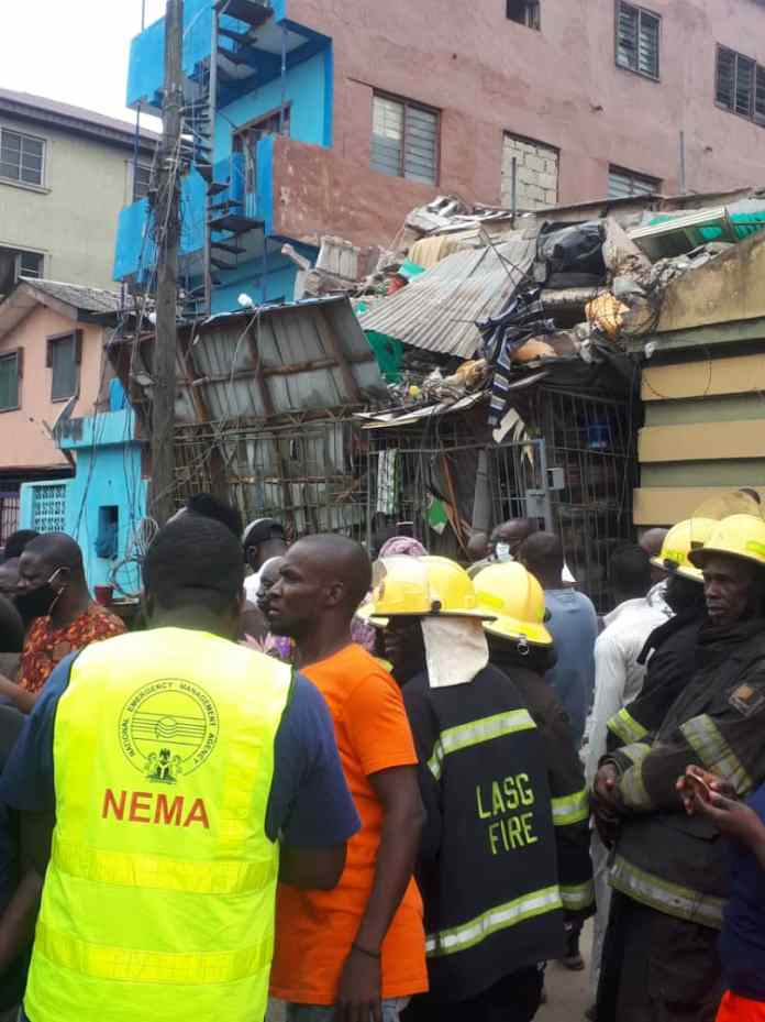 Again! three-storey building collapses in Ebutemeta, Lagos