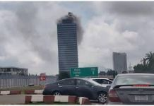 World Trade Centre in Abuja on fire