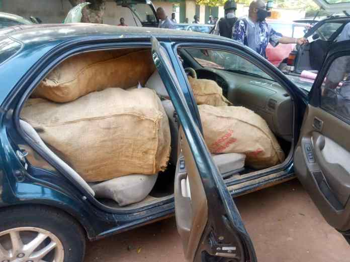 Nigeria Customs nabs 41 suspected smugglers with cannabis, rice