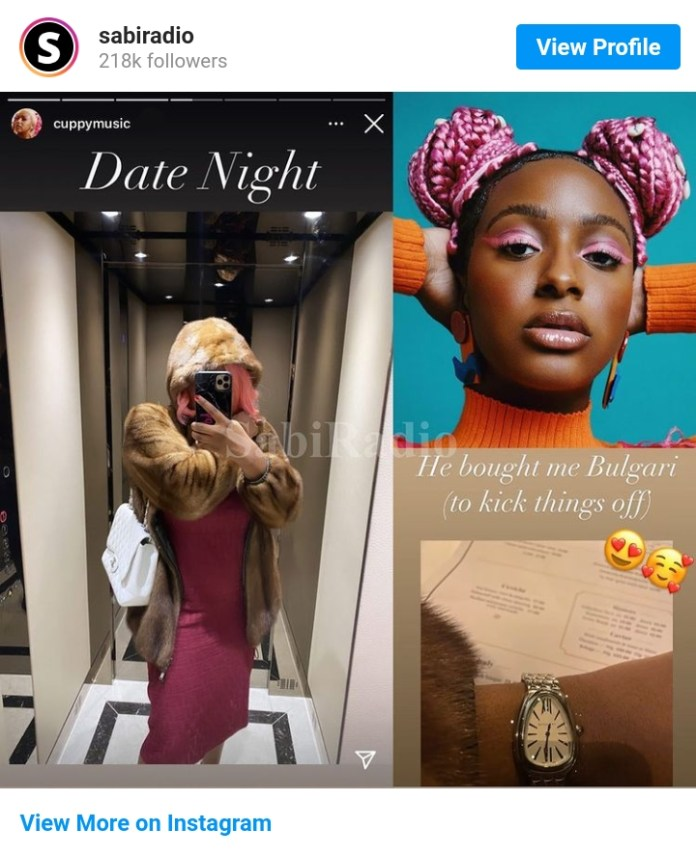 Checkout What Cuppy's Mystery Boyfriend Gifts Her To Kickstart Things