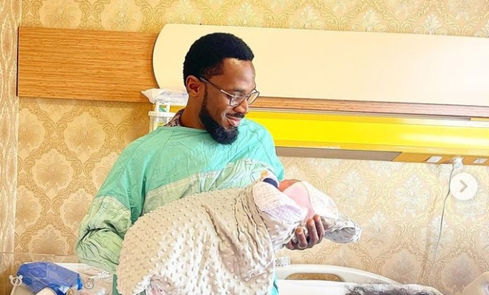 Excitement As D'banj Welcomes Baby Girl With Wife
