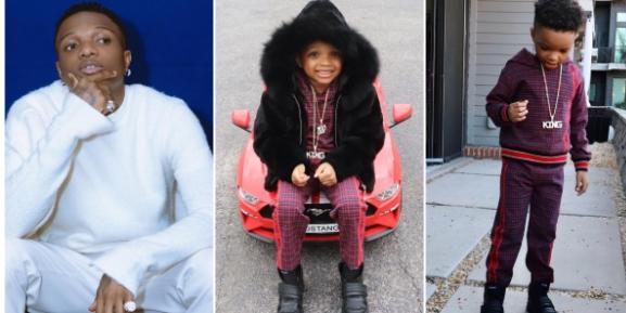 Wizkid's 2nd Son Ayo Celebrates 5th Birthday