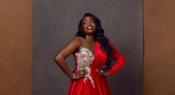 BBNaija's Bisola Aiyeola Stuns In Red Dress To Celebrate 35th Birthday