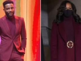 Ebuka Ask For Missing Belt As He Shares Photo Of Matching Outfit With Michelle Obama's Inauguration Look