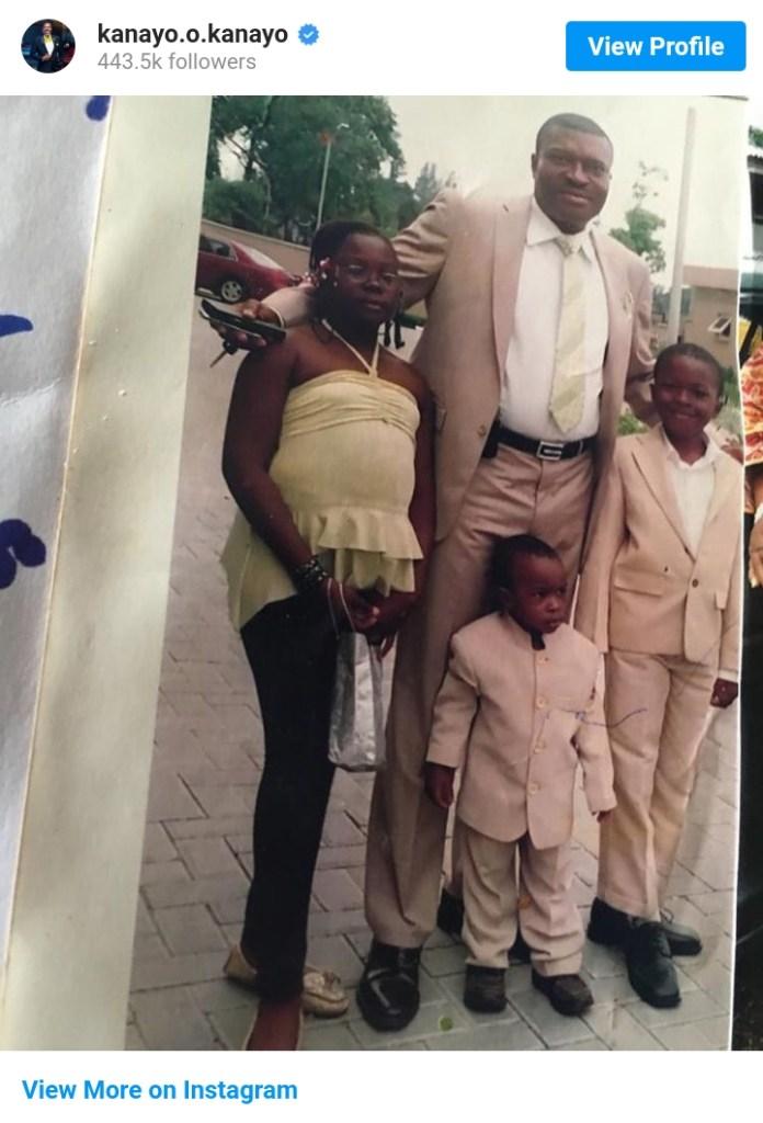 Actor Kanayo O Kanayo Shares Throwback Photos Of Himself And His Kids