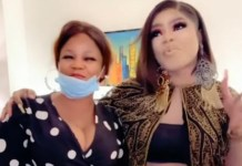 Excitement As Bobrisky Meets Lady Who Drew A Tattoo Of Him On Her Body