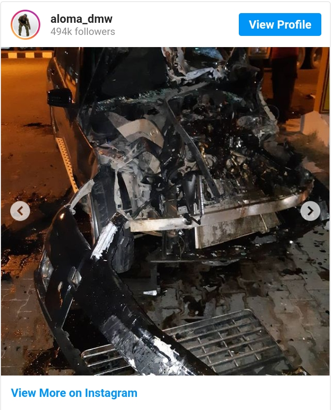 Davido's Former PA, Aloma DMW Survives Accident