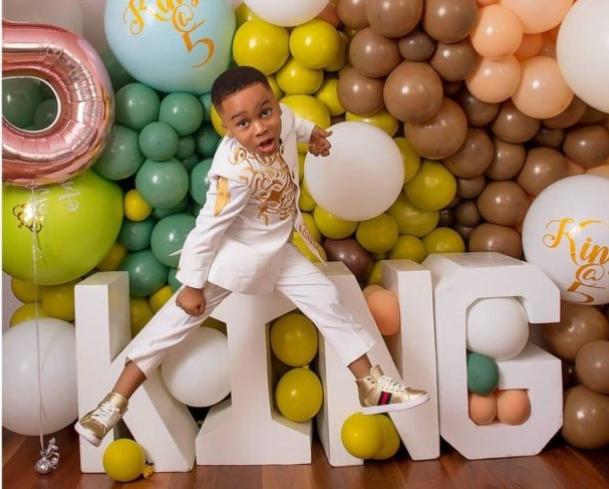 Actress Tonto Dikeh Celebrates Son, King Andre As He Clocks 5