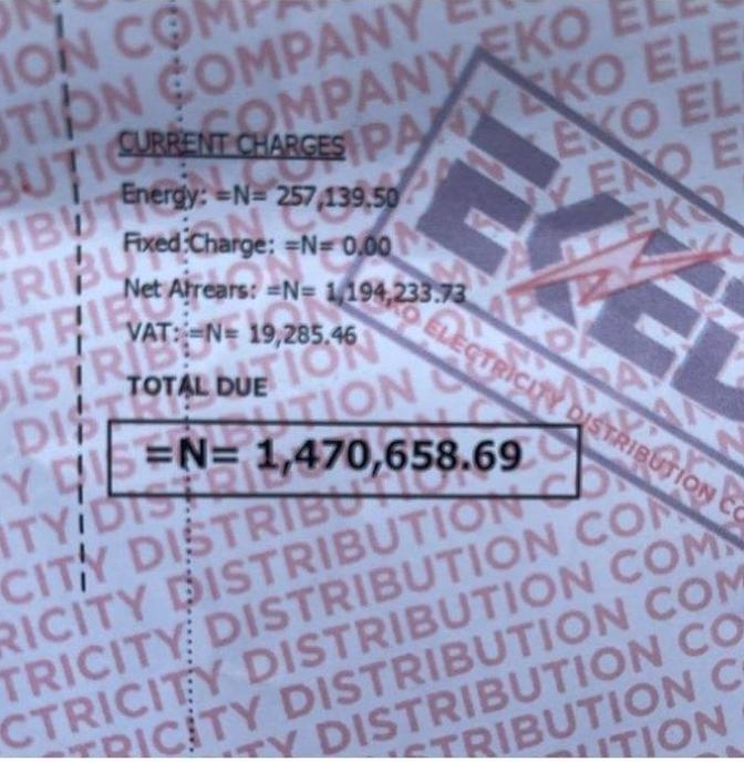 Nedu Wazobia Decry Huge Electricity Bill As It Hits N1.4M