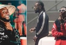 Grammy 2021: Davido Celebrates Wizkid And Burna Boy