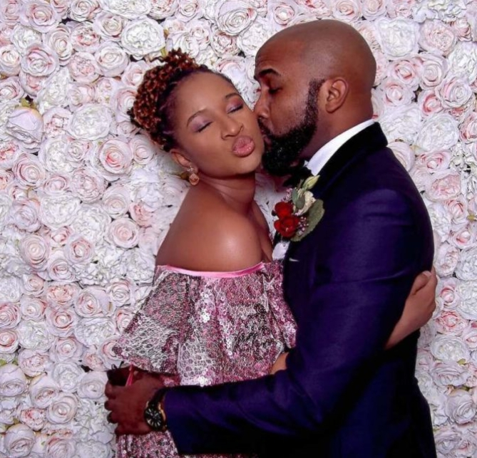 'I Thought I Loved You Before'- Adesuwa Etomi Says As She Celebrates Banky W On His 40th Birthday