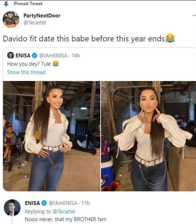 'I Cannot Date Davido, He Is Like A Brother To Me' -Singer Enisa Reveals